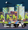 police chilling on work vector image