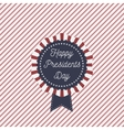 Presidents Day patriotic Emblem with Text vector image