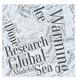 Research on Global Warming Word Cloud Concept vector image vector image