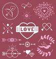 Romantic designs vector image vector image