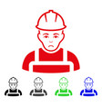 sad worker icon vector image vector image
