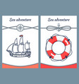sea adventure collection vector image