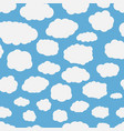 seamless background with blue sky vector image vector image