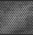 seamless metal grid in hole texture vector image