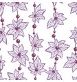 seamless pattern for wallpaper and fabric vector image vector image