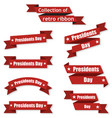 set of festive ribbons on day the president vector image vector image
