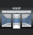 shop with glass windows and doors front view vector image vector image