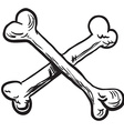 simple black and white crossed bones vector image vector image