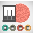 Small set house for street retail vector image vector image
