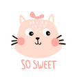 so sweet cat vector image vector image