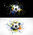 soccer ball dash on colorful background vector image vector image