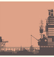 steampunk city silhouette background backdrop wall vector image