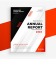 stylish annual report business brochure in red vector image vector image