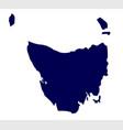 tasmania state silhouette vector image vector image