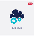 two color cloud service icon from general-1 vector image vector image