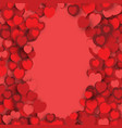 valentines day frame border design with heart vector image vector image