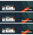 Web design layout of sites Seo promotion vector image vector image