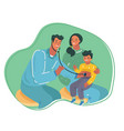woman with her bavisiting children doctor vector image vector image