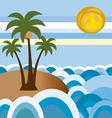 beach in summer 2 vector image