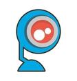 cartoon web camera play communication vector image