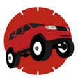 off road vehicle car logo vector image