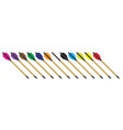 a collection crossbow bolts vector image vector image