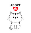 adopt me dont buy contour sitting sad cat vector image vector image