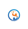 adoption baby and community care logo template vector image vector image