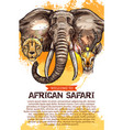 african safari hunting season club poster vector image vector image