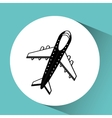 airplane flight design vector image vector image