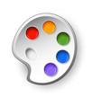art palette vector image