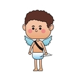 baby cupid cartoon icon vector image vector image