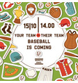 baseball pattern catchers sportswear and batters vector image vector image
