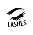 beautiful black lashes and eyebrow fashion sticker vector image