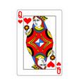 beautiful card queen hearts in class