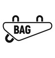 bike textile bag icon simple style vector image