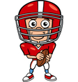 boy football player cartoon vector image vector image