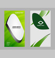 business card set design vector image vector image
