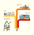 Business education concept infographic pencil vector image vector image