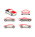 car icons set transport automobile symbol or vector image vector image