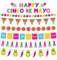 cinco de mayo national mexican holiday party vector image vector image