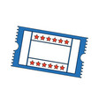cinema ticket movie entertainment show vector image vector image