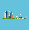 cityscape with buildings and skyscrapers small vector image vector image