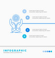coin hand stack dollar income infographics vector image