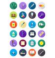 Color round medicine icons set vector image