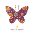 colorful stars butterfly silhouette pattern frame vector image
