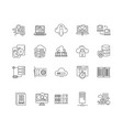 computer backup service line icons signs vector image vector image