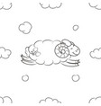 cute sheep in the sky vector image vector image