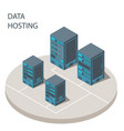 data hosting cloud technology solutions concept vector image