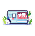 dentist online consultation concept vector image